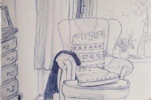 Schets stoel